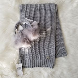 ⬇️ NEW Michael Kors Earmuffs and Scarf Set